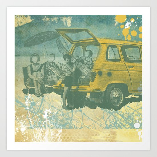 when i was young _ model planes and station wagons Art Print