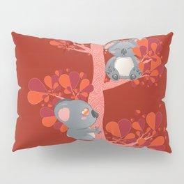 Cartoon couple of koala bears, lovely Valentines day illustration Pillow Sham