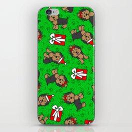 Merry Yorkies iPhone Skin