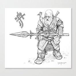 Mountain-Dwarf Forest Warden Canvas Print