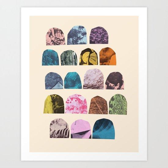EIGHTEEN GRAVES Art Print