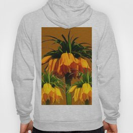 CARAMEL COLOR YELLOW CROWN IMPERIAL FLOWERS Hoody