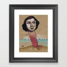 PINK MERMAID Framed Art Print