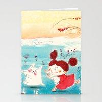 studio ghibli Stationery Cards featuring Fan-art Studio Ghibli  by Maureen Poignonec