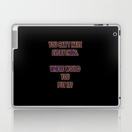 Funny One-Liner Hoarding Joke Laptop & iPad Skin