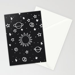 Planets Hand Drawn Stationery Cards