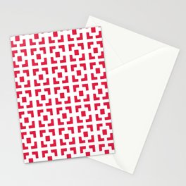 Red Tile pattern Stationery Cards