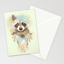 Rocco Raccoon - earth tones Stationery Cards
