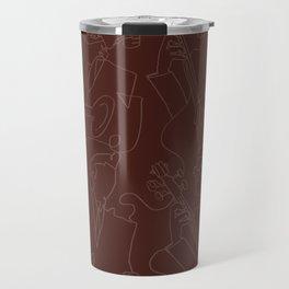 Jazz Musicians (Maroon) Travel Mug