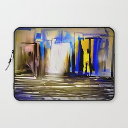 Blue and Yellow City Laptop Sleeve
