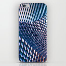 Shiny Blue Dimple Abstract iPhone Skin