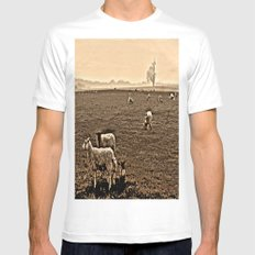 Redeemed with a Lamb MEDIUM Mens Fitted Tee White