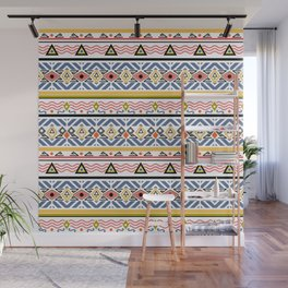 Ethnic ornament , white background Wall Mural
