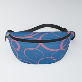 Ring Pattern V53 2021 Color of the Year Accents Fruit Dove 17-1926 Pink Skydiver 19-4151 Blue Fanny Pack