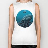kraken Biker Tanks featuring Kraken by JayhIllustration