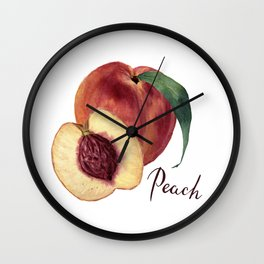 Watercolor sweet peaches Wall Clock