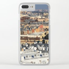 Buildings roofs cityscape scenery. Clear iPhone Case