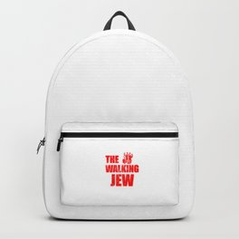 The Walking Jew Funny Jewish Israeli Inspiring Walk Pun Design Gift Cool Humor Backpack