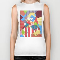 homer Biker Tanks featuring Homer Simpson by iankingart
