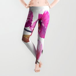 Pink Orchids Leggings