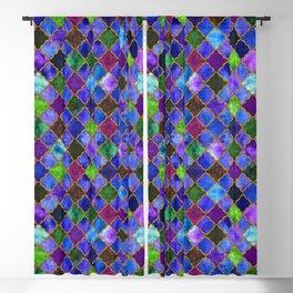 Peacock Arabesque Digital Quilt Blackout Curtain
