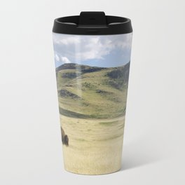Being Alone is Healthy - Bison on Range Travel Mug