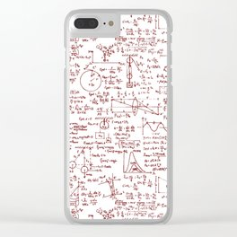 Physics Equations in Red Pen Clear iPhone Case