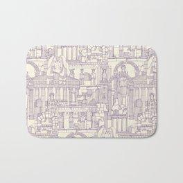 Ancient Greece purple pearl Bath Mat
