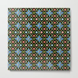 Elizabethan Lattice Metal Print