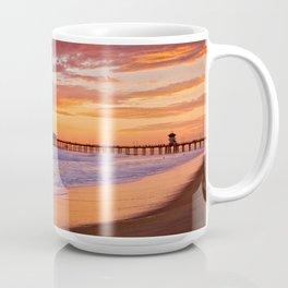 Monsoon Sunset / Huntington Beach Pier  9/9/15 Coffee Mug