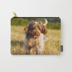 Brown Roan Italian Spinone Dog in Action Carry-All Pouch