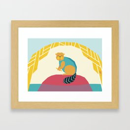 The Beaver Framed Art Print