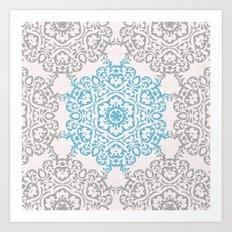 Glitters and Mandala Pattern Art Print