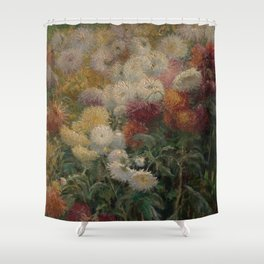Chrysanthemums in the Garden at Petit-Gennevilliers - Claude Monet Shower Curtain