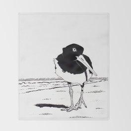 American Oystercatcher Throw Blanket