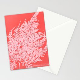 Pretty in Pink Fern Stationery Cards
