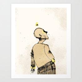 Zombie walk Art Print