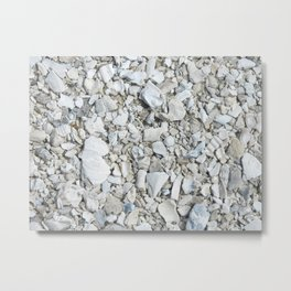 Rock pebbles on beach in Florida Metal Print