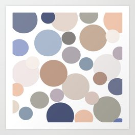 Cool Circle Palette Art Print