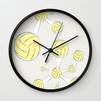 soccer Wall Clocks featuring Soccer DNA by HenryWine