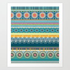 Blue Streaks Art Print