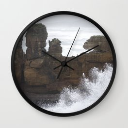 Punakaiki Wave Wall Clock