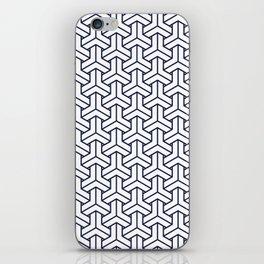 Japanese Yukata Jinbei Bishamon Navy reversed pattern iPhone Skin