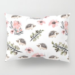 Floral hedgehog Pillow Sham
