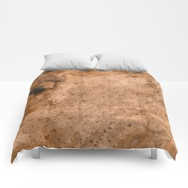 Acrylic Coffee Stained Paper Comforters