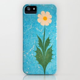 Pure Daisy marbling art iPhone Case