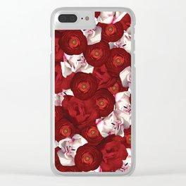 Belle Fleur: Tulip Ranunculus Clear iPhone Case