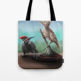 Wooden Woodpecker Tote Bag