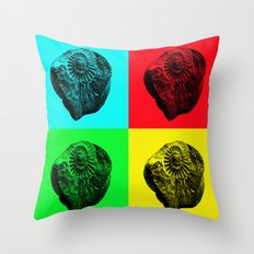 Pop Art Fossil Throw Pillow