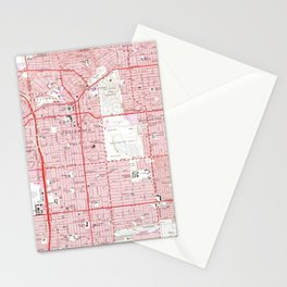 Vintage Map of Inglewood California (1964) Stationery Cards
